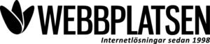 WebbPlatsen svart logo med slogan